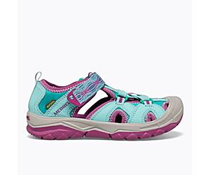 Hydro Sandal, Turquoise/Purple, dynamic