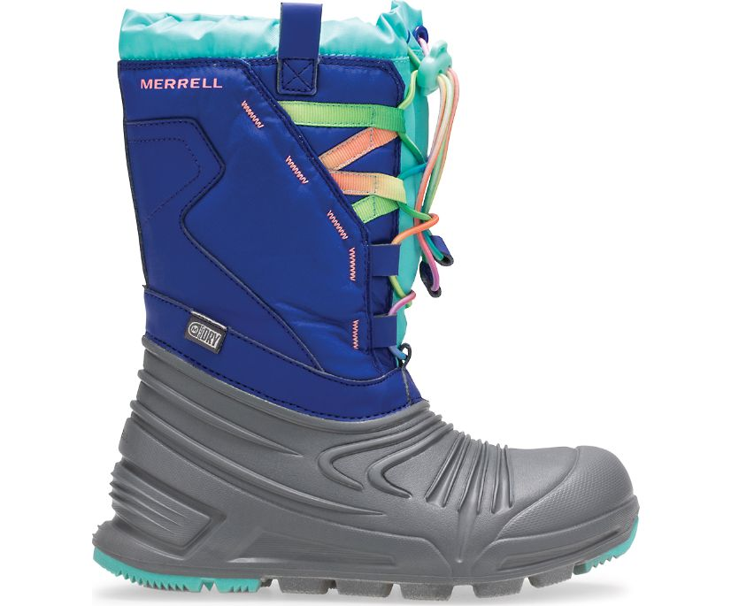 Snow Quest Lite 2.0 Waterproof Boot, Grey/Blue/Turquoise, dynamic
