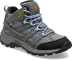 Moab 2 Mid Waterproof Boot, Grey/Periwinkle, dynamic