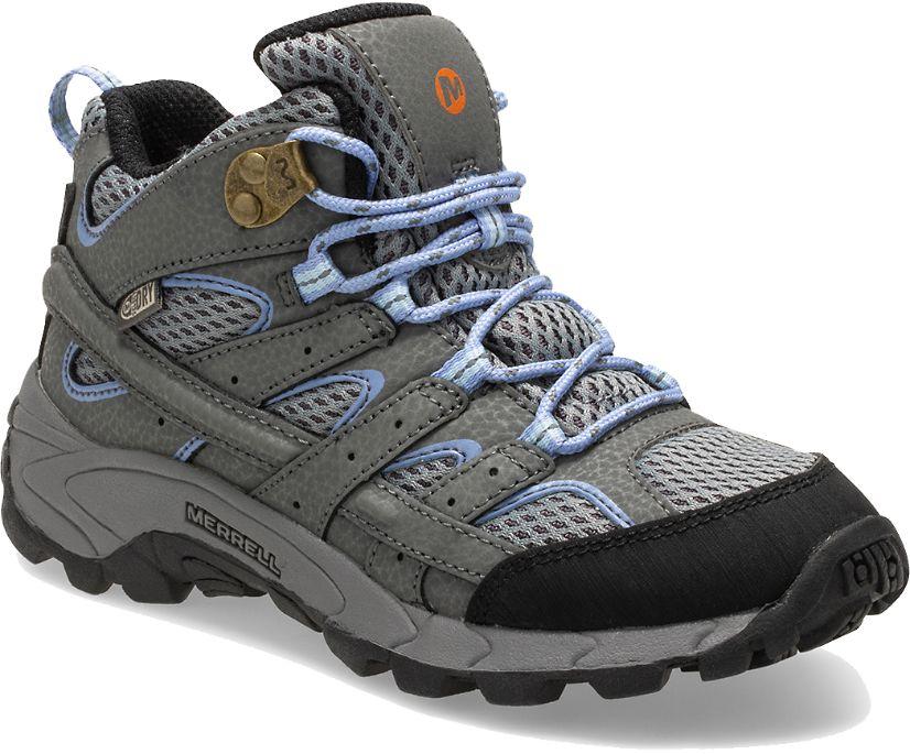 Moab 2 Mid Waterproof Boot, Grey/Periwinkle, dynamic