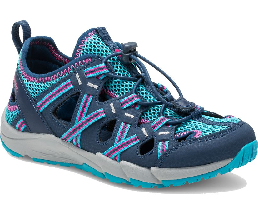 Hydro Choprock Sandal, Navy/Turquoise, dynamic