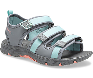 Hydro Creek Sandal, Grey/Turq, dynamic