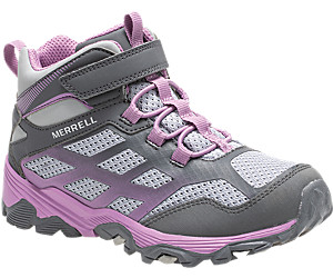 Moab FST Mid A/C Waterproof Boot, Grey/Purple, dynamic