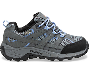 Moab 2 Low Lace Waterproof Sneaker, Grey/Periwinkle, dynamic