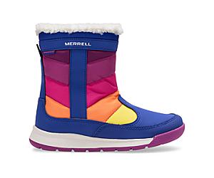 Alpine Puffer Waterproof Boots, Blue/Multi, dynamic