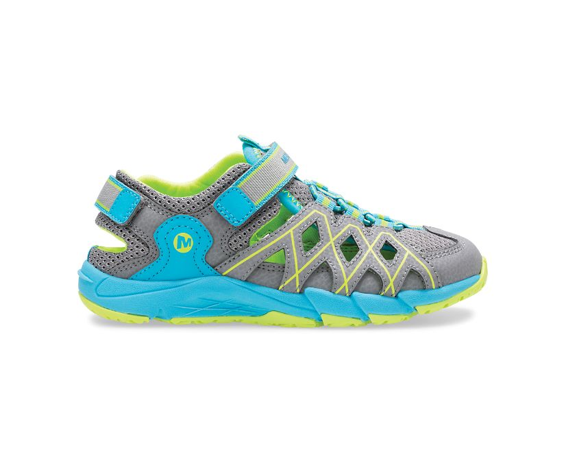 Hydro Quench Sandal, Grey/Turquoise, dynamic
