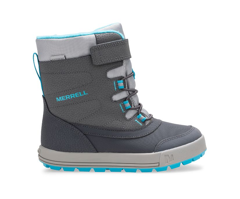 Snow Storm Waterproof Boot, Grey/Turquoise, dynamic