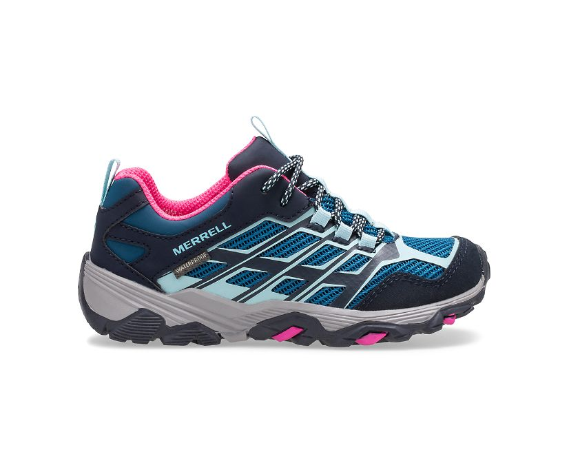 Moab FST Low Waterproof Shoes, Arctic/Ontario, dynamic