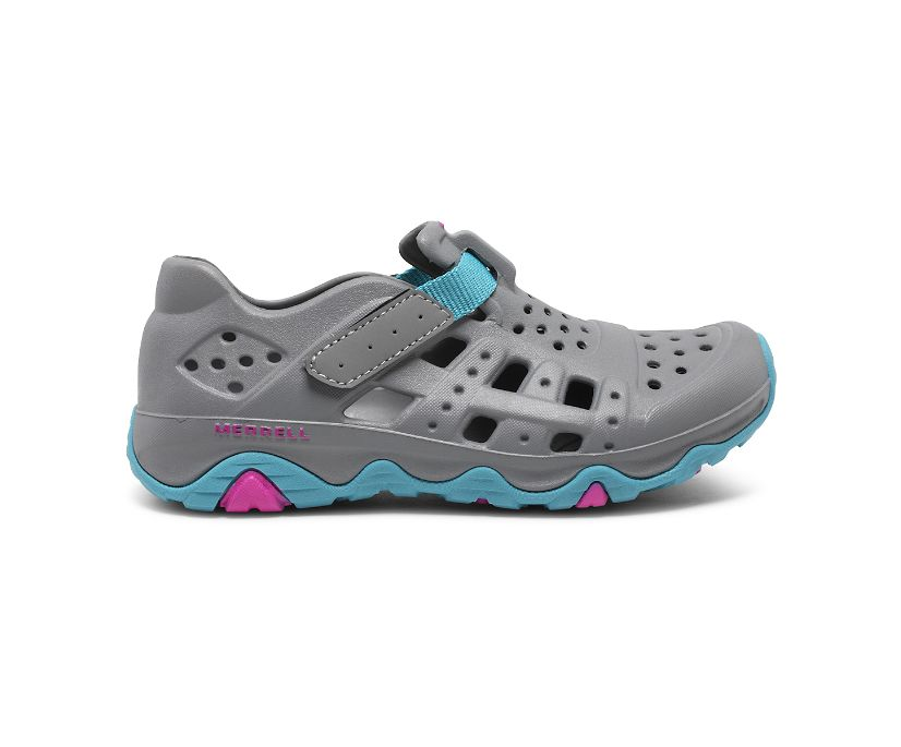 Hydro Canyon Sandal, Grey/Turquoise, dynamic