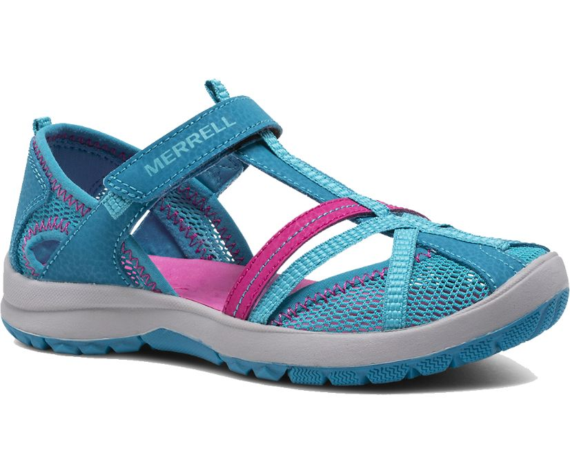 Dragonfly Sandal, Turquoise, dynamic