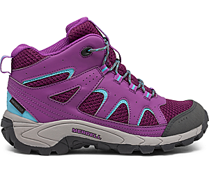 Oakcreek Mid Lace Waterproof Boot, Paloma/Berry, dynamic