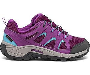 Oakcreek Low Lace Waterproof Sneaker, Paloma/Berry, dynamic