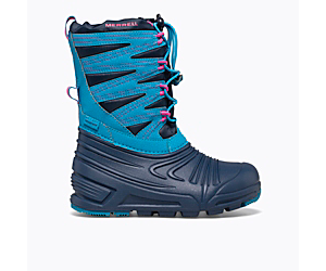 Snow Quest Lite 3.0 Waterproof, Turquoise/Navy, dynamic