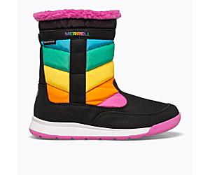 Alpine Puffer Waterproof Boot, Rainbow Multi, dynamic