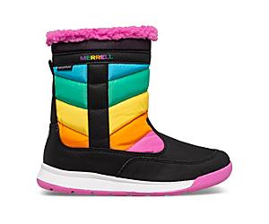 Alpine Puffer Waterproof Boots, Rainbow Multi, dynamic