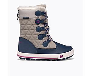 Heidi Waterproof Boot, Grey/Navy, dynamic