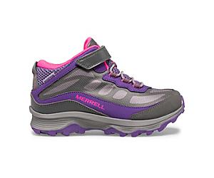 Moab Speed Mid A/C Waterproof, Grey/Pink/Purple, dynamic