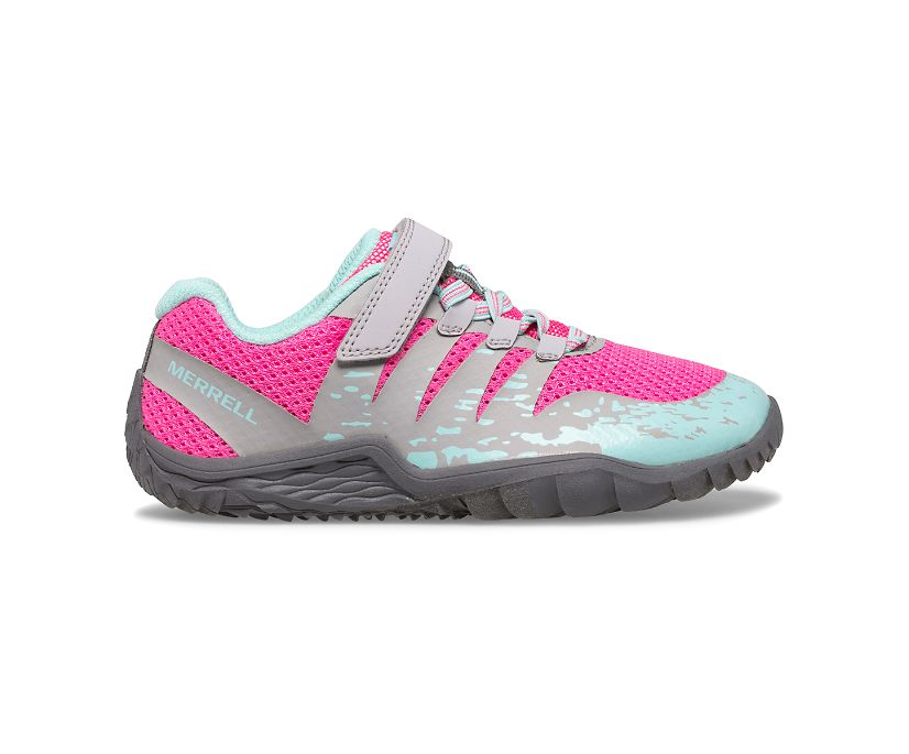 Trail Glove 5 A/C Shoe, Grey/Hot Pink/Turquoise, dynamic