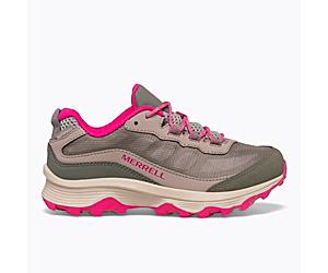 Moab Speed Low Waterproof, Stone/Island/Pink, dynamic