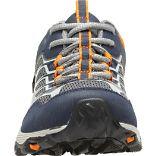 Moab FST Low Waterproof Shoes, Navy/Grey/Orange, dynamic