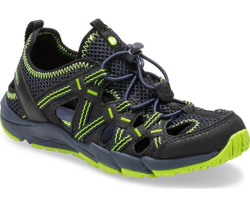 Hydro Choprock Sandal, Black/Navy/Lime, dynamic