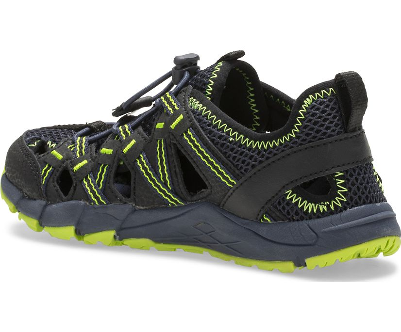 Hydro Choprock Sandal, Black/Navy/Lime, dynamic