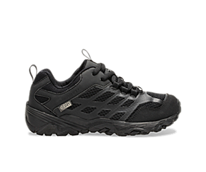 Moab FST Low Waterproof Shoes, Black/Black, dynamic