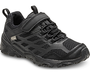 Moab FST Low A/C Waterproof Sneaker, Black/Black, dynamic