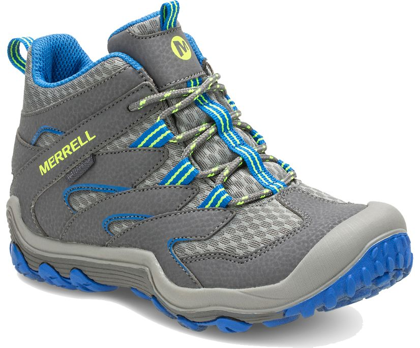 Chameleon 7 Access Mid Waterproof Boot, Grey/Blue, dynamic