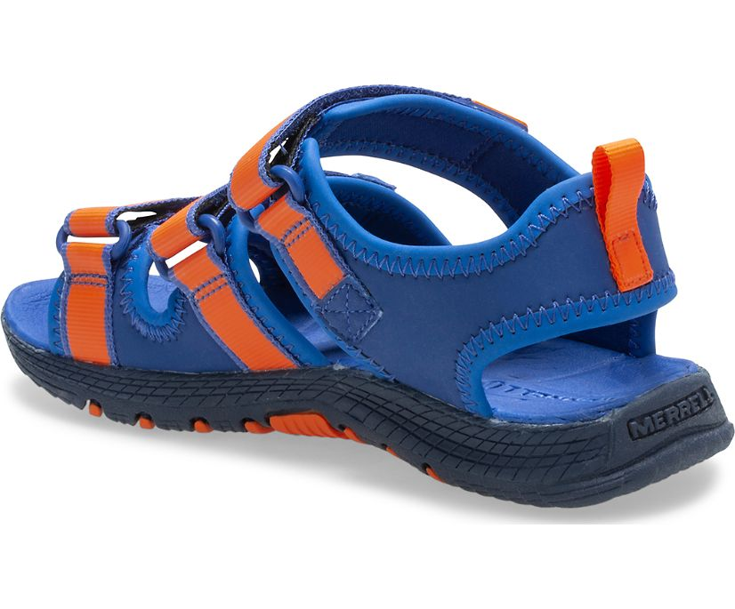 Hydro Creek Sandal, Blue/Orange, dynamic