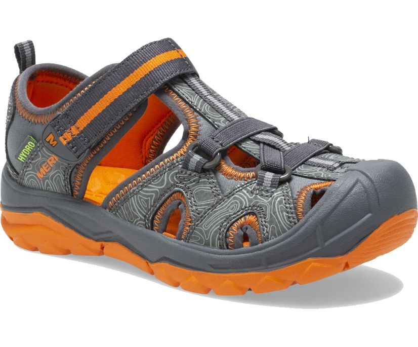 Hydro Sandal, Grey/Orange, dynamic