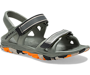 Hydro Drift Sandal, Olive/Orange, dynamic