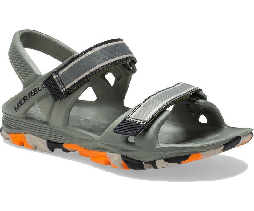 Hydro Drift Sandal, Olive/Orange, dynamic