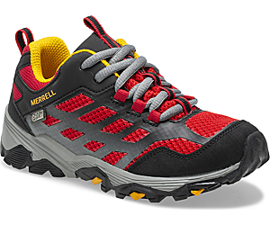 Moab FST Low Waterproof Shoes, Black/Red, dynamic
