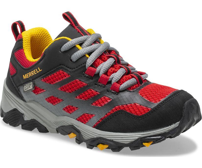 Moab FST Low Waterproof Shoes, Black/Red, dynamic