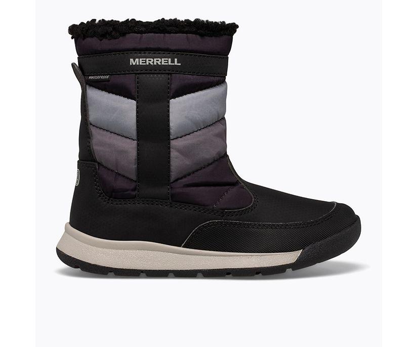 Alpine Puffer Waterproof Boot, Black/Grey, dynamic