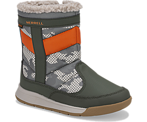 Alpine Puffer Waterproof Boots, Olive/Camo, dynamic
