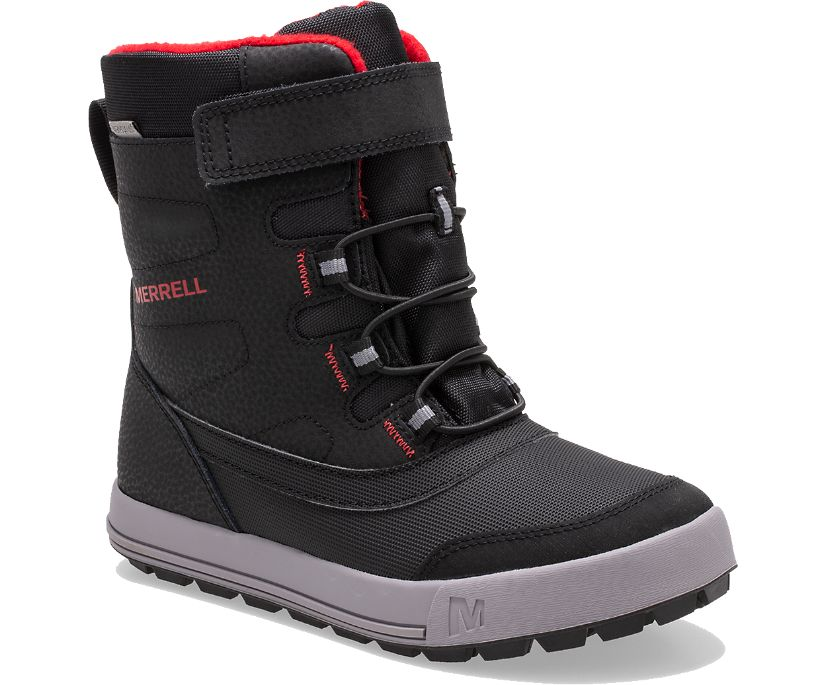 Snow Storm Waterproof Boot, Black/Grey/Red, dynamic