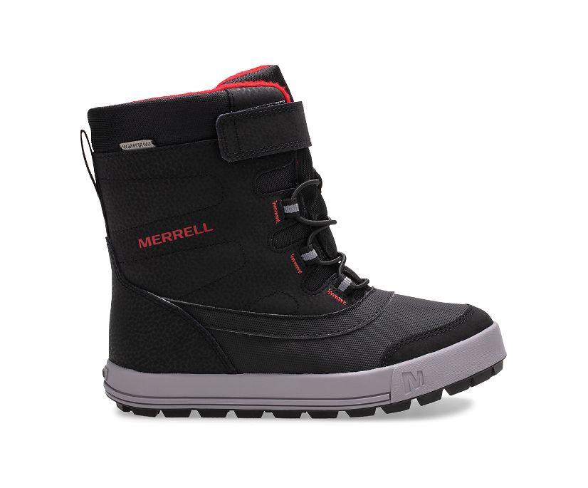 Snow Storm Waterproof Boot, Black/Grey/Red, dynamic