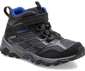 Moab FST Mid A/C Waterproof Boot, Black/Rock, dynamic