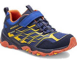 Moab FST Low A/C Waterproof Sneaker, Blue/Orange, dynamic