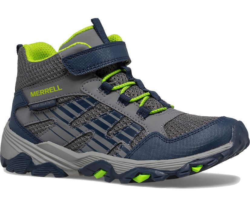 Moab Voyager Mid A/C Boot, Grey/Navy, dynamic