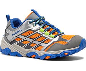 Moab FST Low Waterproof Shoes, Grey/Silver/Orange, dynamic
