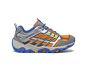 Moab FST Low Waterproof Shoes, Grey/Silver/Orange, dynamic