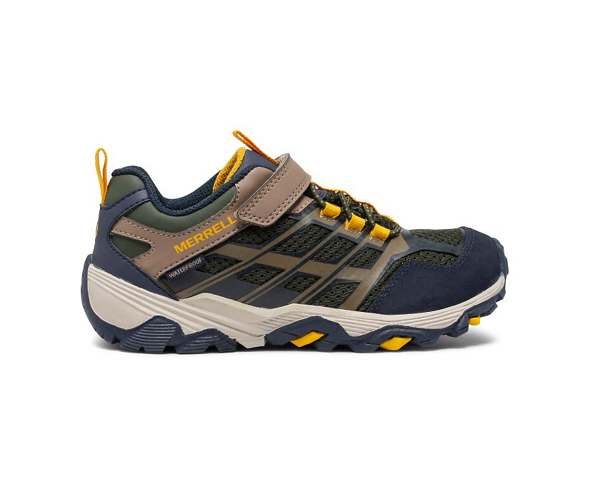 Moab FST Low A/C Waterproof Sneaker, Navy/Taupe/Olive, dynamic