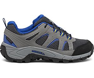 Oakcreek Low Lace Waterproof Sneaker, Charcoal, dynamic