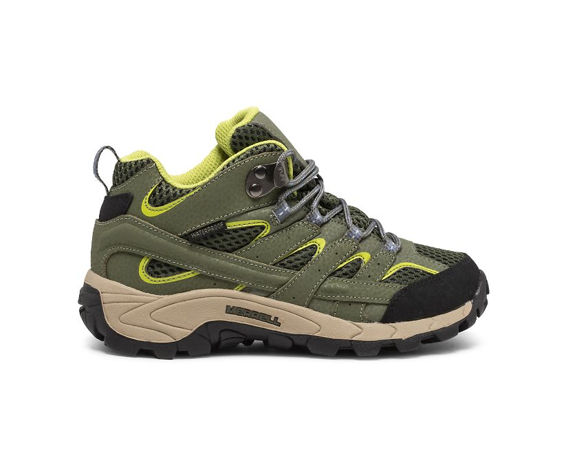 Moab 2 Mid Waterproof Boot, Green/Lime, dynamic