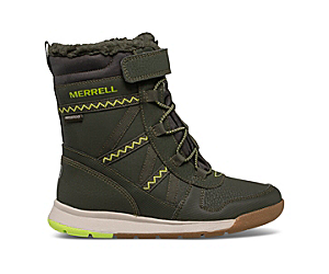 Snow Crush 2.0 Waterproof Boot, Olive/Lime, dynamic