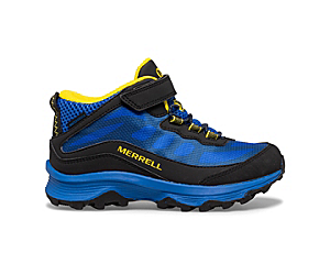Moab Speed Mid A/C Waterproof, Black/Royal/Yellow, dynamic