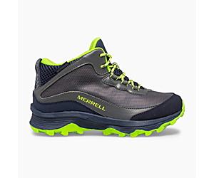 Moab Speed Mid Waterproof, Navy/Grey/Lime, dynamic